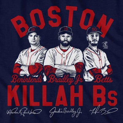 Killah Bs Boston Outfield T-Shirt - Chowdaheadz