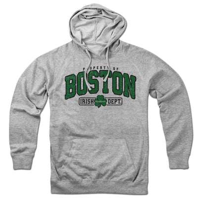 Property of Boston Irish Dept. Lightweight Hoodie - Chowdaheadz