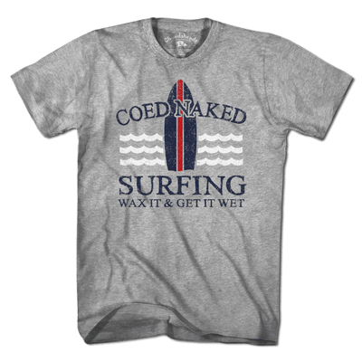 Coed Naked Surfing T-Shirt - Chowdaheadz