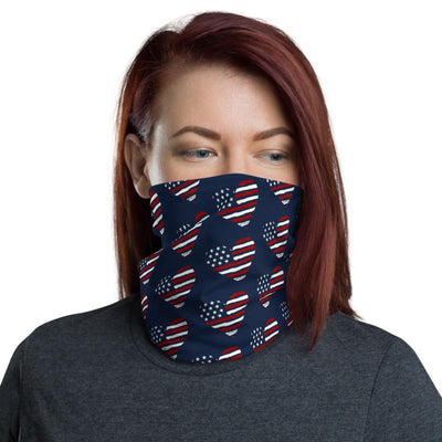 USA Heart Flag Neck Gaiter - Chowdaheadz