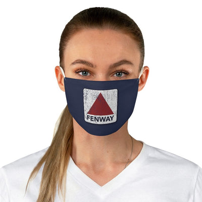 Distressed Fenway Sign Fabric Face Mask - Chowdaheadz