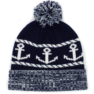 Anchor Down Old Port Knit Beanie - Chowdaheadz