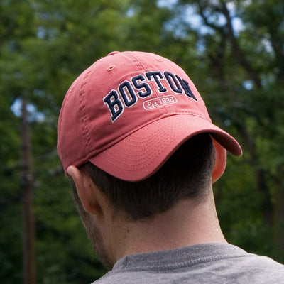 "Boston Arch ""Pastime"" Adjustable Hat - Cape Cod Red - Chowdaheadz"