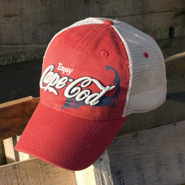 "Enjoy Cape Cod ""Townie Trucker"" Mesh Hat - Cape Red - Chowdaheadz"