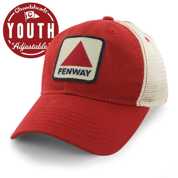 "Fenway Patch Youth ""Lil' League Trucker"" Hat - Red - Chowdaheadz"