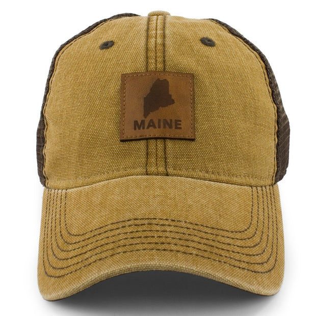 "Maine Patch ""Cobblestone"" Trucker Hat - Chowdaheadz"