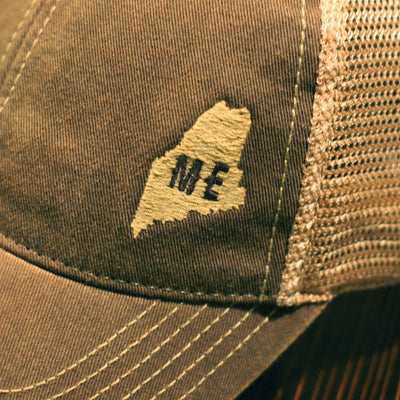 "Mini Maine ""Dirty Water"" Mesh Trucker Hat - Brown - Chowdaheadz"