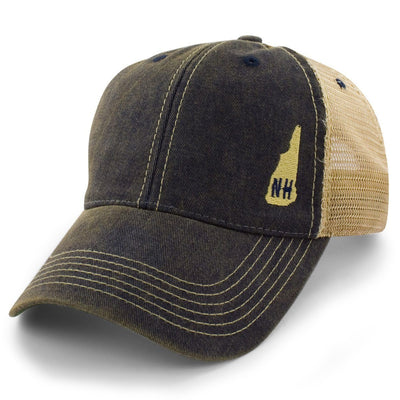 "Mini New Hampshire ""Dirty Water"" Mesh Trucker Hat - Navy - Chowdaheadz"