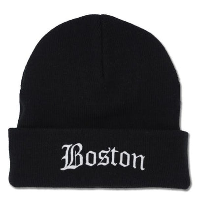 Old Boston Script Cuff Knit - Chowdaheadz