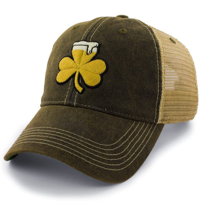 Shamrock Beer Dirty Water Trucker Hat - Chowdaheadz