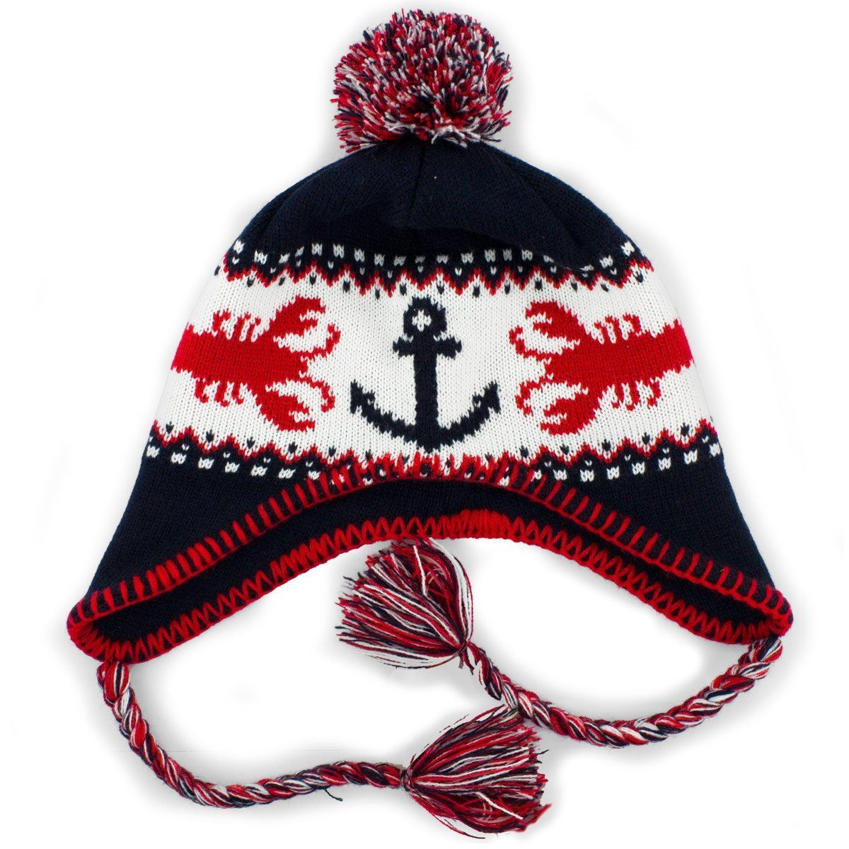 8ee93ff669d92d Ugly Lobstah Nor'Eastah Knit Beanie - Chowdaheadz