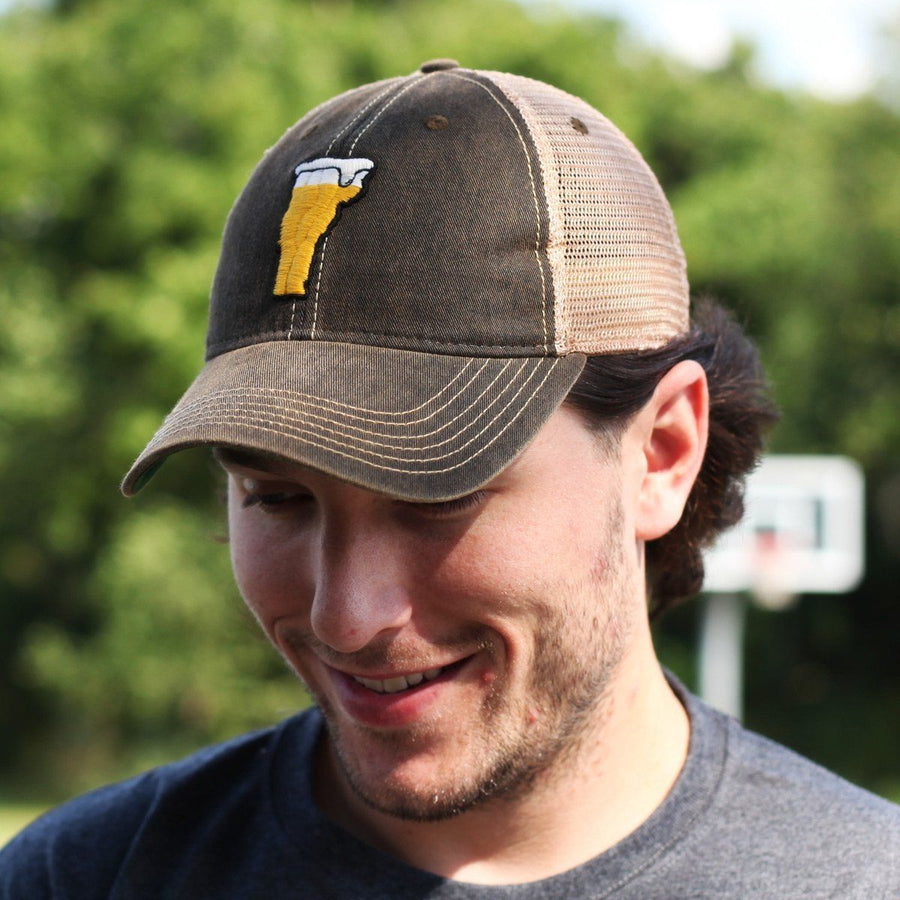 "Vermont Beer ""Dirty Water"" Mesh Trucker Hat - Chowdaheadz"