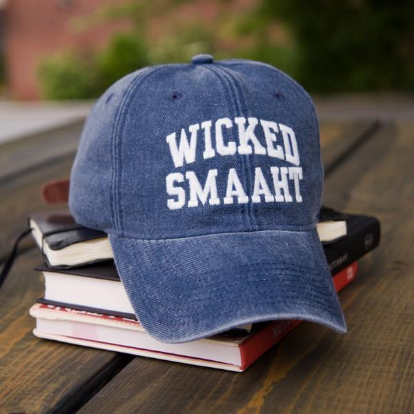 "Wicked Smaaht ""Ivy League"" Adjustable Navy Hat - Chowdaheadz"
