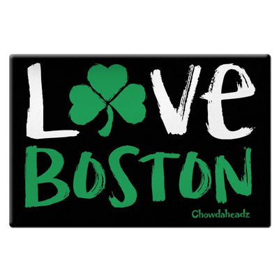 Love Boston Shamrock Magnet - Chowdaheadz