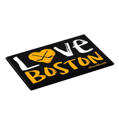 Love Boston Back And Gold Magnet - Chowdaheadz