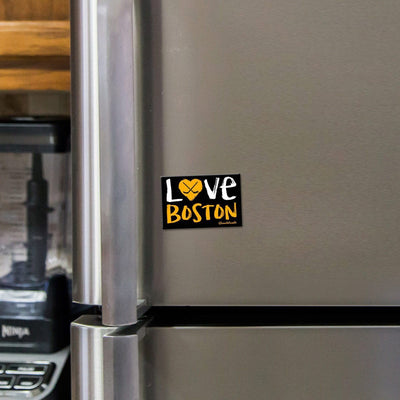 Love Boston Black And Gold Magnet - Chowdaheadz