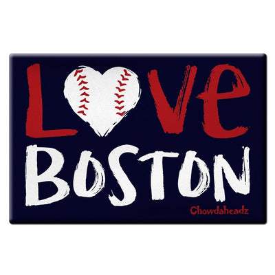Love Boston Baseball Magnet - Chowdaheadz
