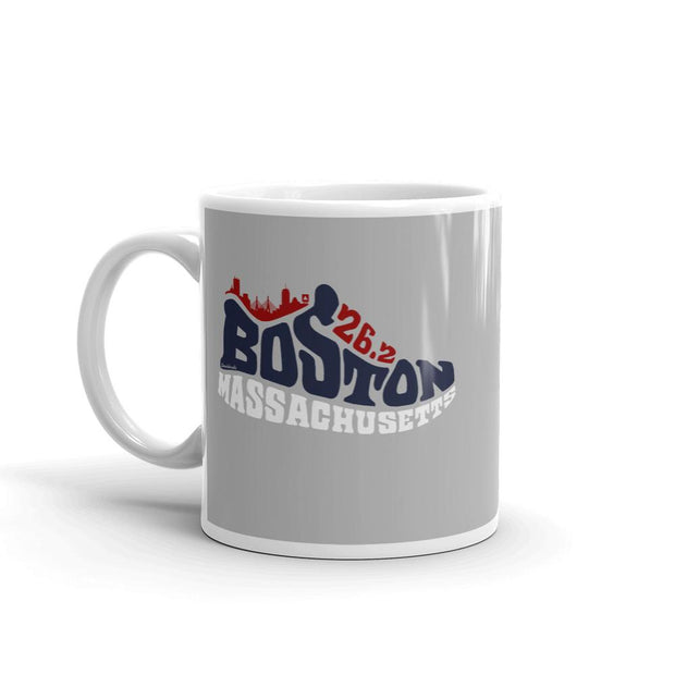 Boston Mass 26.2 Sneaker Coffee Mug - Chowdaheadz
