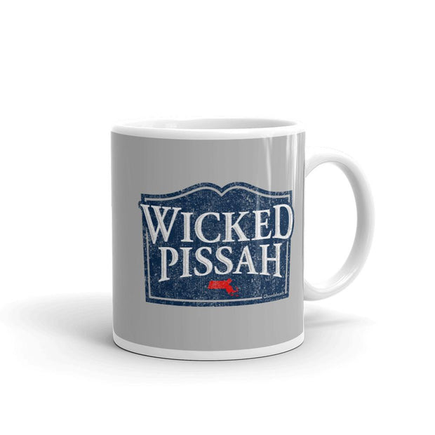 Wicked Pissah Sign Coffee Mug - Chowdaheadz