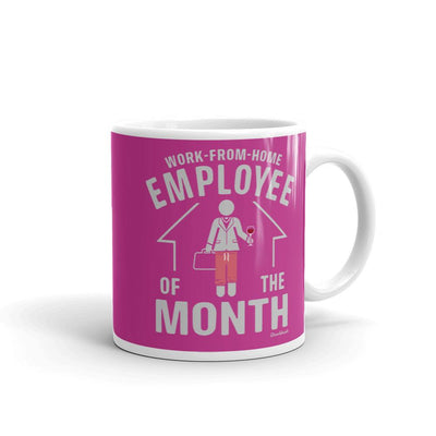 Work From Home Employee Of The Month Coffee Mug- Female