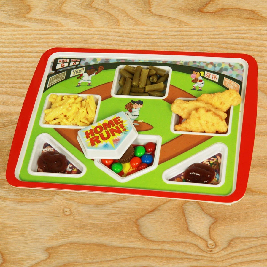 Home Run Baseball Themed Kids Meal Plate Game - Chowdaheadz