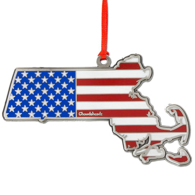 Massachusetts America Christmas Ornament - Chowdaheadz