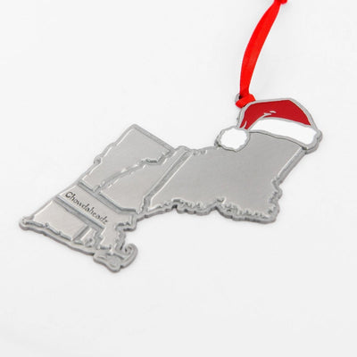 New England Santa Hat Ornament - Chowdaheadz
