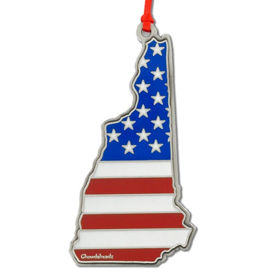 New Hampshire USA Christmas Ornament - Chowdaheadz