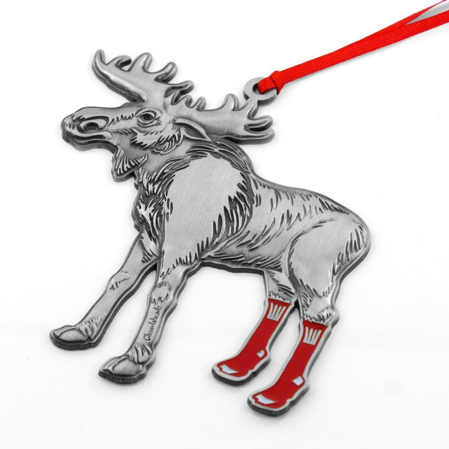 Socks on Moose Ornament - Chowdaheadz