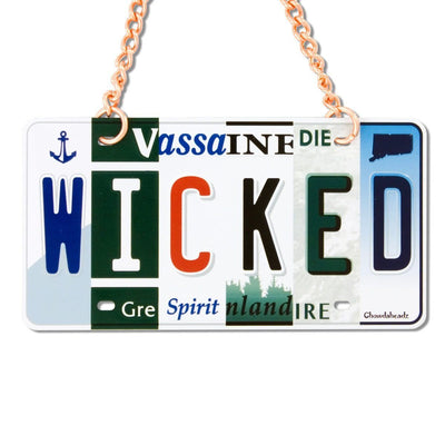 Wicked License Plate Ornament - Chowdaheadz
