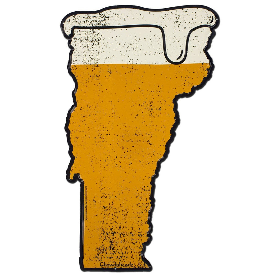 Vermont Beer Metal Sign - Chowdaheadz
