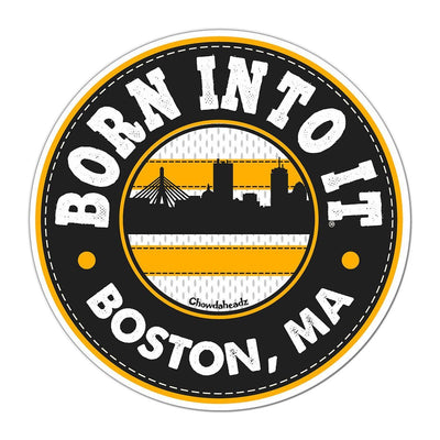 Born Into It Black & Gold Sticker - Chowdaheadz