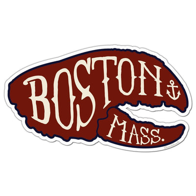 Boston Lobstah Claw Sticker - Chowdaheadz