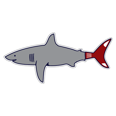 Boston Shark Fan Sticker - Chowdaheadz