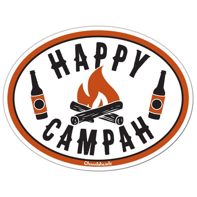 Happy Campah Sticker - Chowdaheadz