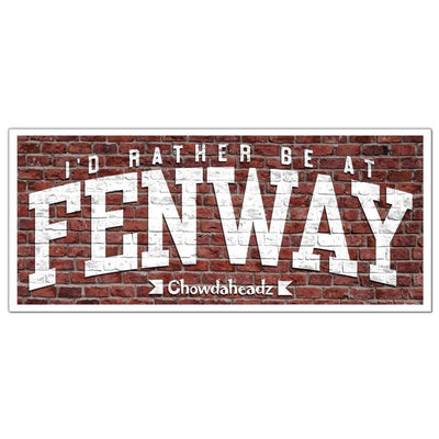 I'd Rather Be At Fenway Sticker - Chowdaheadz