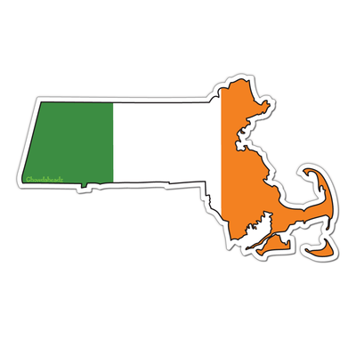 Irish Massachusetts Sticker - Chowdaheadz