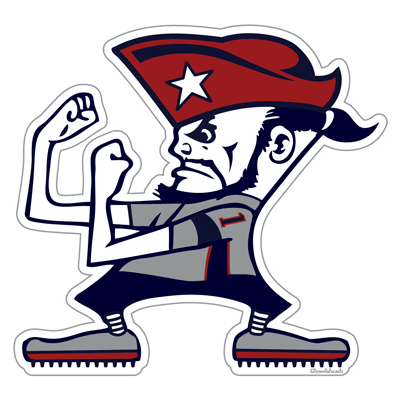 New England Fighting Fan Sticker - Chowdaheadz
