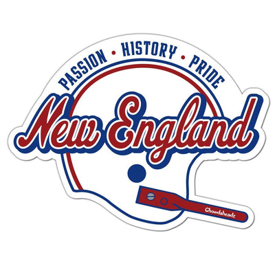 New England Football Passion History Pride Sticker - Chowdaheadz