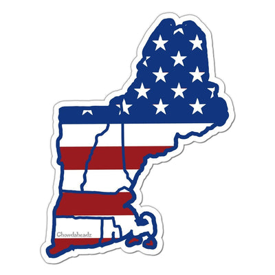 New England USA Sticker - Chowdaheadz