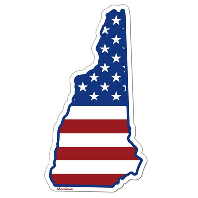 New Hampshire USA Sticker - Chowdaheadz