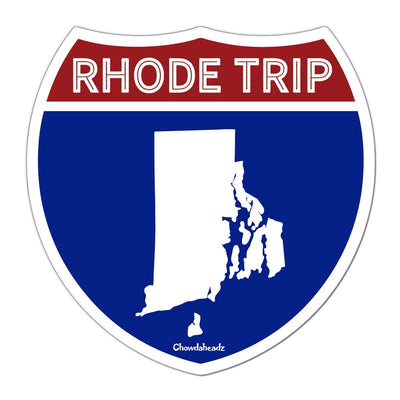 Rhode Trip Highway Sign Sticker - Chowdaheadz