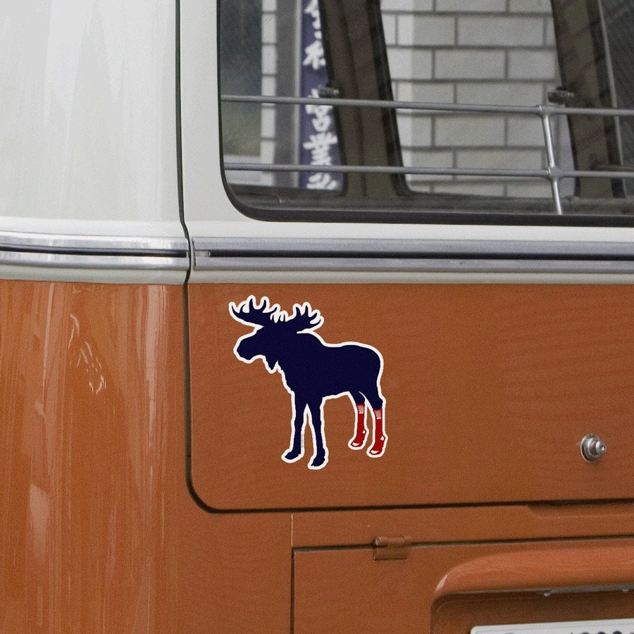 Socks On Moose Sticker - Chowdaheadz