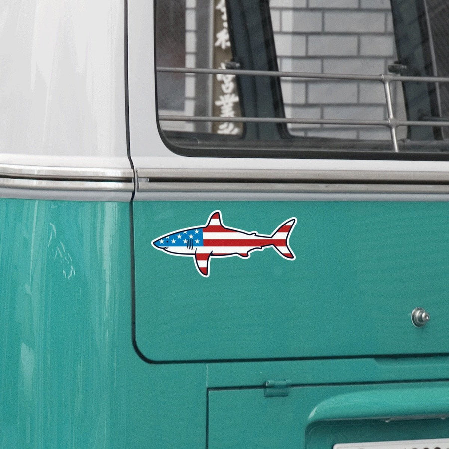 Stars and Stripes Shark Sticker - Chowdaheadz
