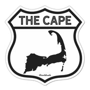 The Cape Highway Sign Sticker - Chowdaheadz