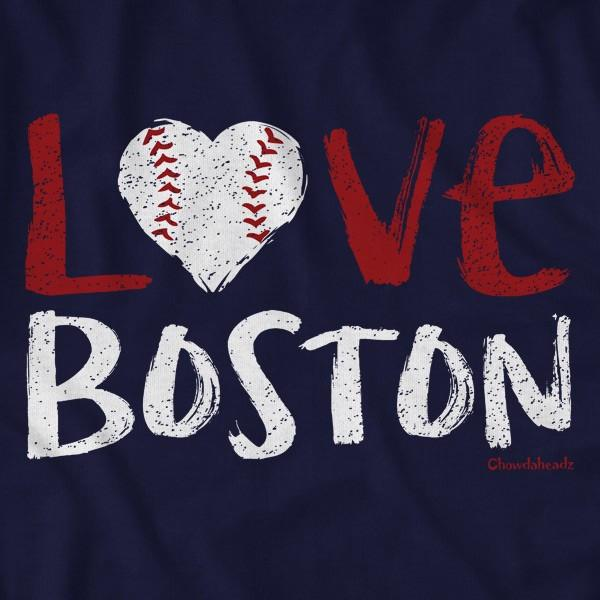 Love Boston Baseball Lightweight Hoodie - Chowdaheadz