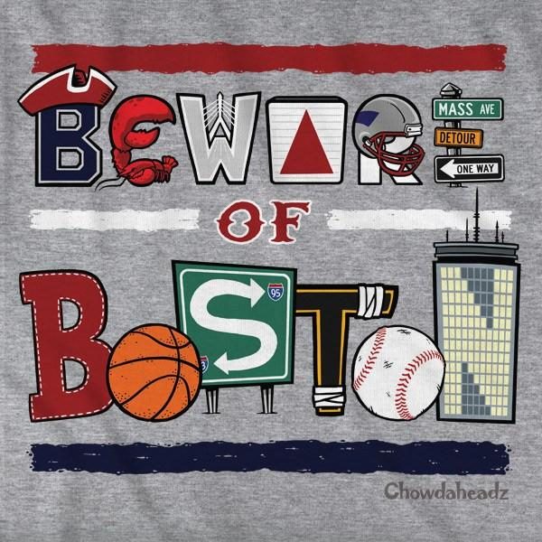 Beware of Boston Icons T-Shirt - Chowdaheadz