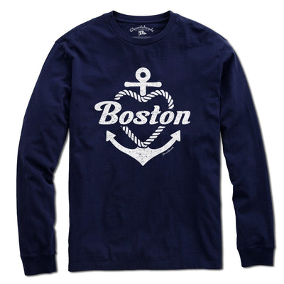 Boston Anchor Heart T-shirt - Chowdaheadz