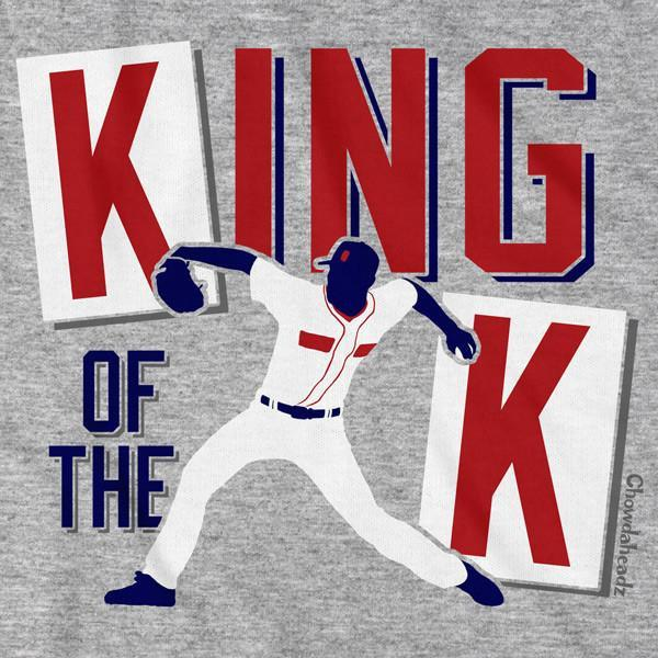 Boston Baseball Strikeout King T-Shirt - Chowdaheadz