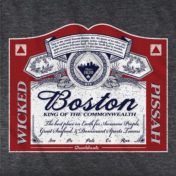 Boston King of the Commonwealth T-Shirt - Chowdaheadz